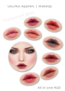 lelutka makeup vendor trans gloss