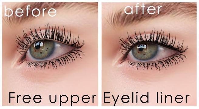 upper eyelid liner