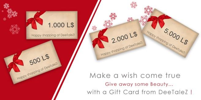 Giftcard Christmas Werbung