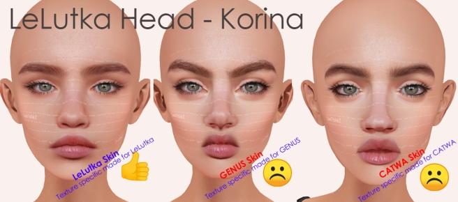LELUTKA HEAD BOM tests