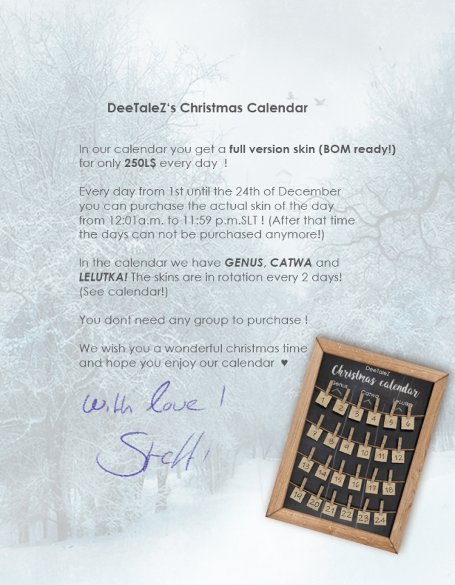 christmas calendar Advertising