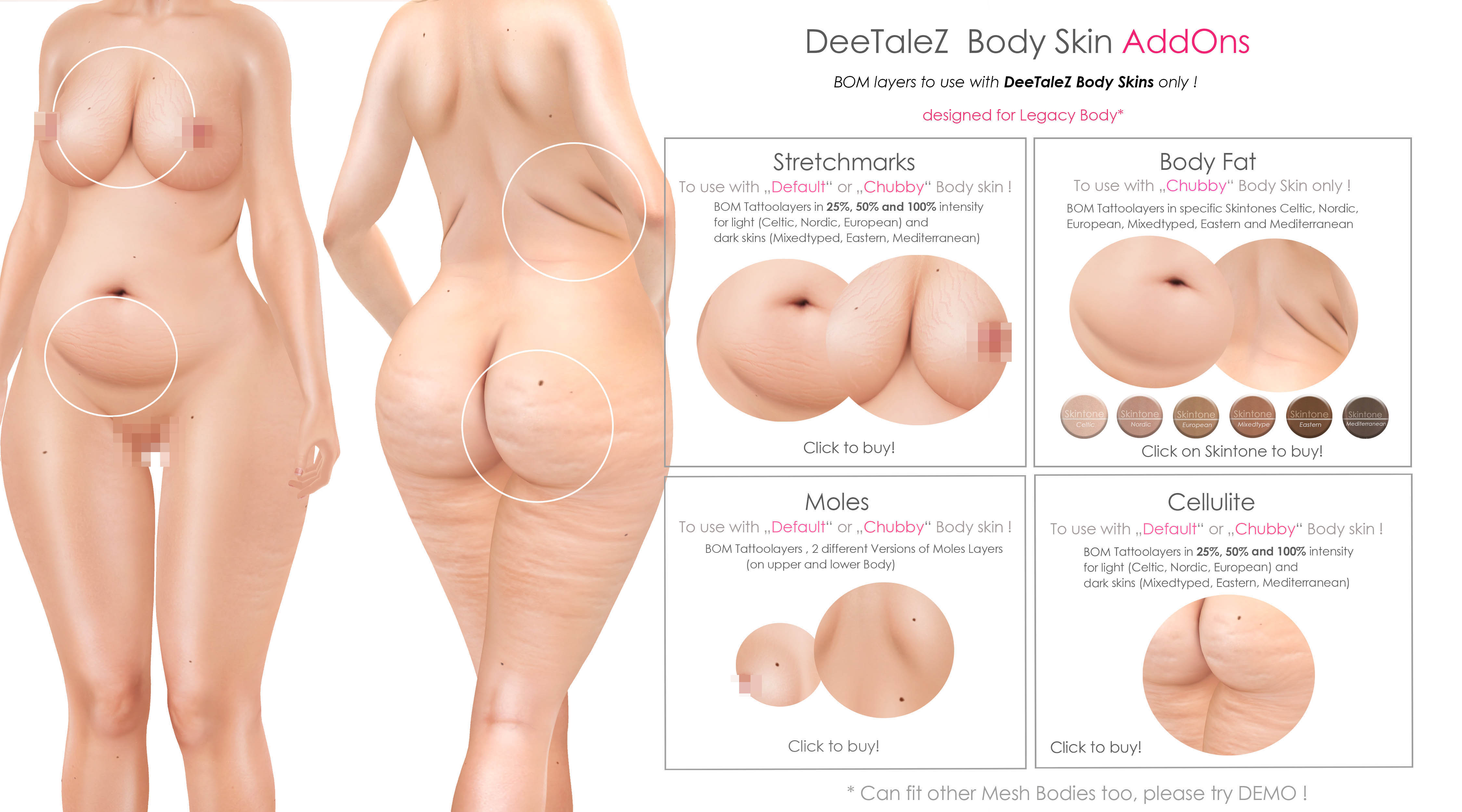 BODY ADDONS VENDOR chubby skin FAT PG