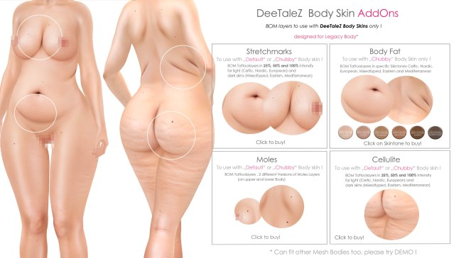 BODY ADDONS VENDOR chubby skin FAT PG