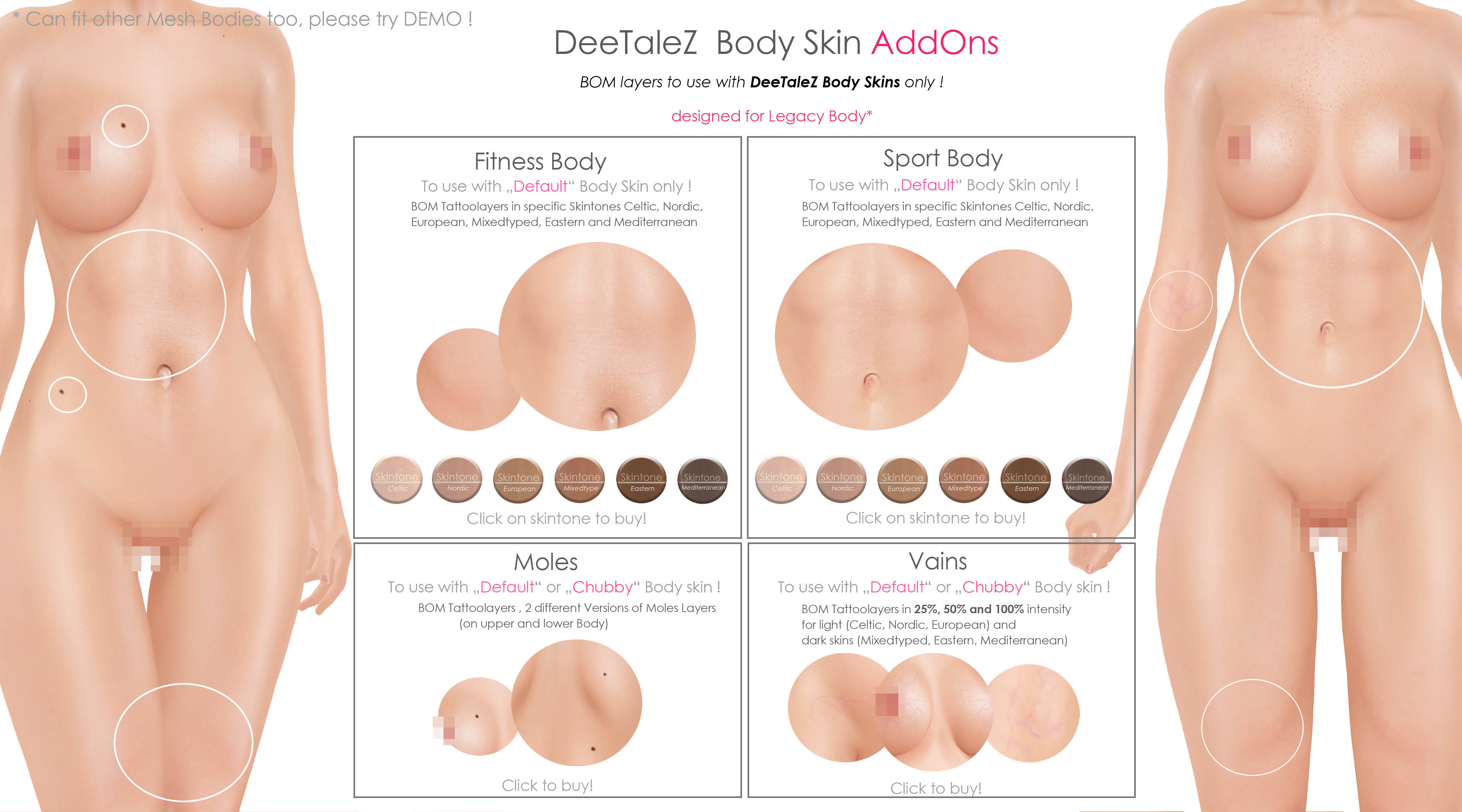 BODY ADDONS VENDOR default skin FIT and SPORT PG