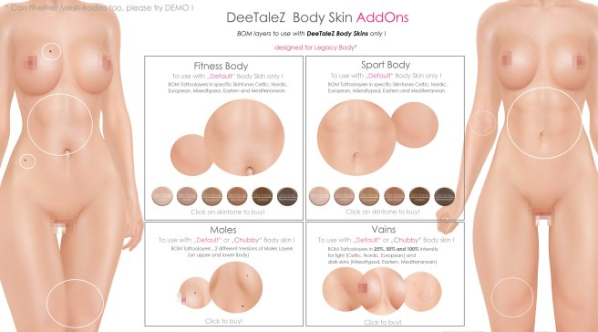 BODY ADDONS VENDOR default skin FIT and SPORT PG