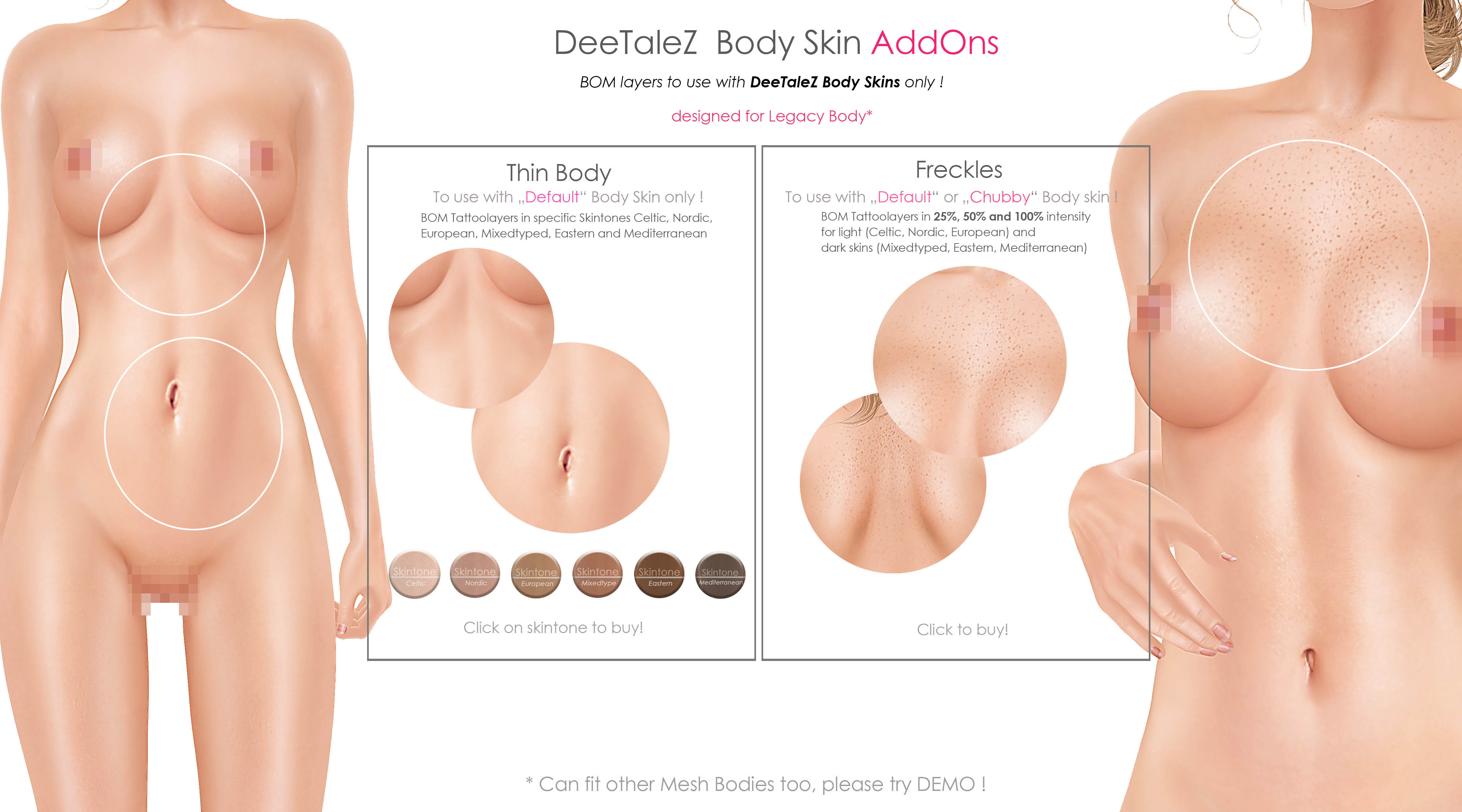BODY ADDONS VENDOR default skin THIN PG